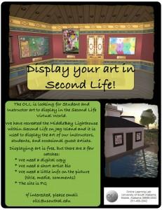 2nd Life Art Flyer