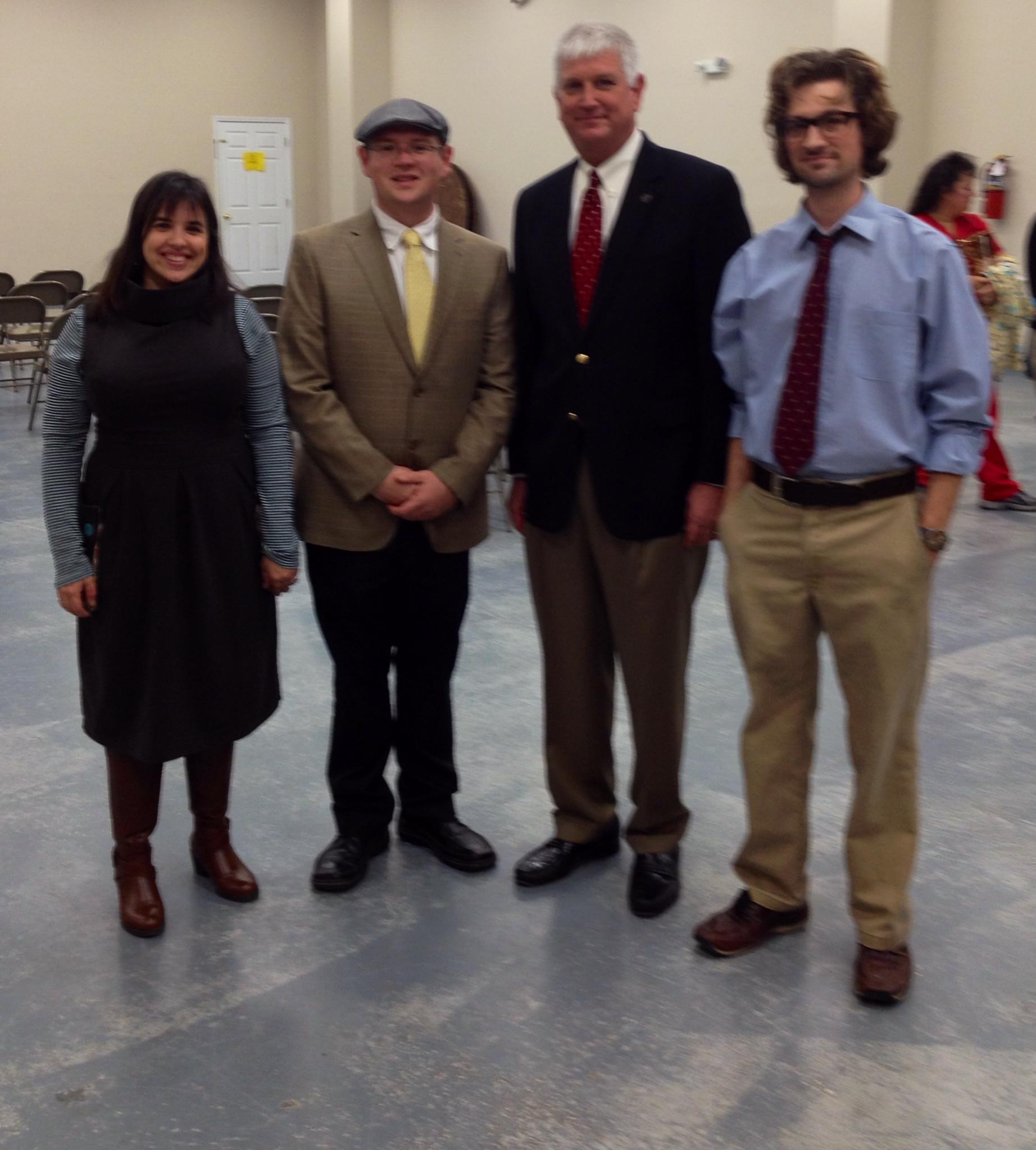 Kim & Ric Jordan, and Representative David Sessions