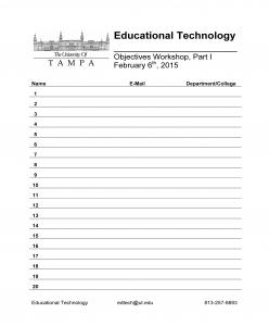 Sign In Sheet-EdTech Training