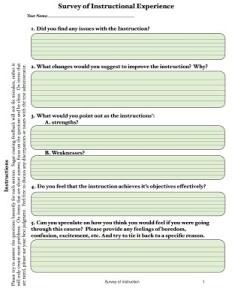 Survey of Instruction
