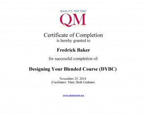 QM Designing your blended course Certificate