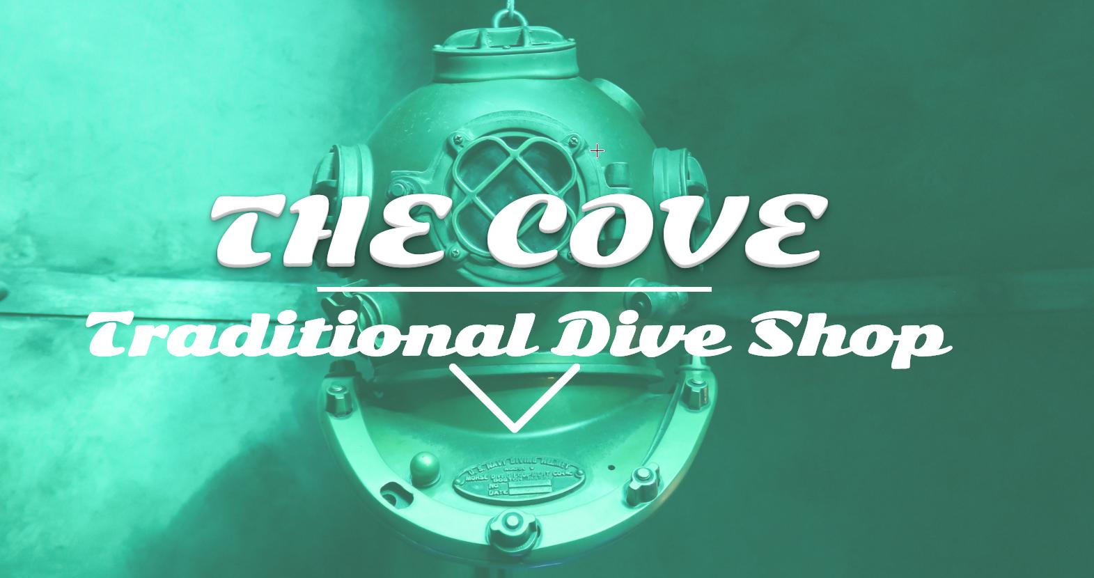 The Cove Dive Shop Demo Site
